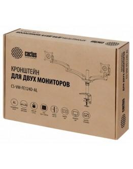 """Кронштейн для мониторов Cactus CS-VM-FE124D-AL серебристый 15""""-27"""" макс.8кг настольный поворот и наклон"""