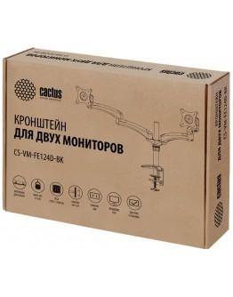"""Кронштейн для мониторов Cactus CS-VM-FE124D-BK черный 15""""-27"""" макс.8кг настольный поворот и наклон"""