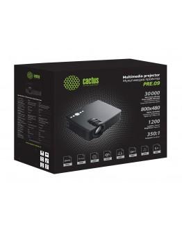 Проектор Cactus CS-PRE.09B.WVGA-W LCD 1200Lm (800x480) 350:1 ресурс лампы:30000часов 1xUSB typeA 1xHDMI 1кг