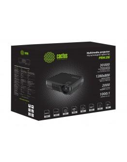 Проектор Cactus CS-PRM.06B.WVGA-W LCD 2000Lm (1280x800) 1000:1 ресурс лампы:30000часов 1xUSB typeA 1xHDMI 1кг